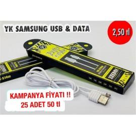 YK SAMSUNG USB & DATA  25 ADET 50 TL