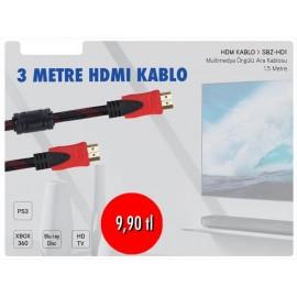 SUBZERO 3 METRE HDMI KABLO