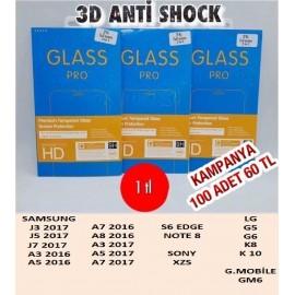 3D ANTİ SHOCK 100 ADET 60 TL