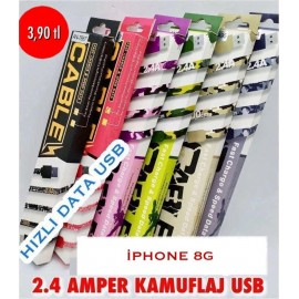 2.4 AMPER KAMUFULAJ USB IPHONE 8G