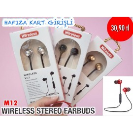 M12 WİRELESS STEREO EARBUDS