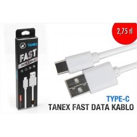 TANEX FAST DATA KABLO TYPE C