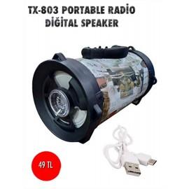 TX-803 PORTABLE RADİO DİGİTAL SPEAKER