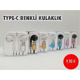 TYPE-C RENKLİ KULAKLIK