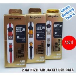 2.4A HIZLI AİR JACKET USB DATA