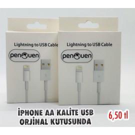 İPHONE AA KALİTE KUTULU USB ORJİNAL KUTUSUNDA