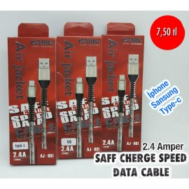 2.4 AMPER SAFF CHERGE SPEED DATA CABLE
