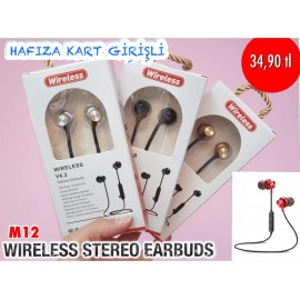 WİRELESS STEREO EARBUDS M-12
