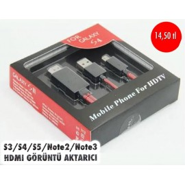 S3-S4-S5-NOTE2-NOTE3 HDMI GÖRÜNTÜ AKTARICI