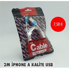 2M İPHONE A KALİTE USB