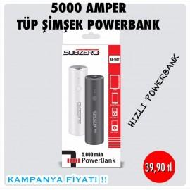 SUBZERO 5000 TÜP ŞİMŞEK POWERBANK