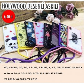 HOLLYWOOD DESENLİ ASKILI KAPAK