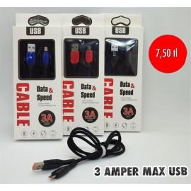 3 AMPER MAX USB