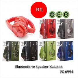 BLUETOOTH VE SPEAKER KULAKLIK PG 6994