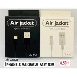 AİR JACKET İPHONE 8 VAKUMLU FAST USB