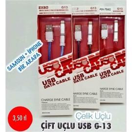 ÇİFT UÇLU USB G-13