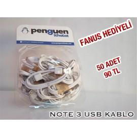 NOTE 3 USB KABLO FANUS HEDİYELİ 50 ADET 90 TL