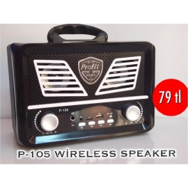 P-105 WİRELESS SPEAKER