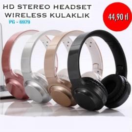 HD STEREO HEADSET WİRELESS KULAKLIK PG-6979