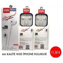 AA KALİTE W20 İPHONE KULAKLIK