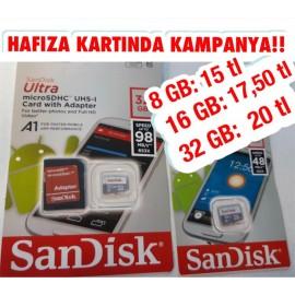 KAMPANYA SANDİSK 32 GB HAFIZA KARTI