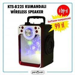 KTS-822S WİRELESS KUMANDALI SPEAKER