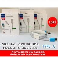 ORJİNAL KUTUSUNDA FOXCONN USB 2.4A TYPE C