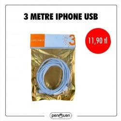 3 METRE İPHONE USB