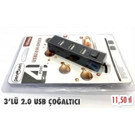 3'LÜ 2.0 USB ÇOĞALTICI
