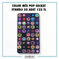 COLOR MİX POP SOCKET STANDLI 50 ADET 125 TL
