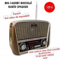 MG-1600BT NOSTALJİ RADİO SPEAKER