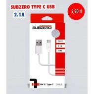 SUBZERO TYPE C 2.1A USB