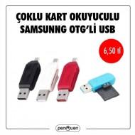 ÇOKLU KART OKUYUCU SAMSUNG OTG'Lİ USB