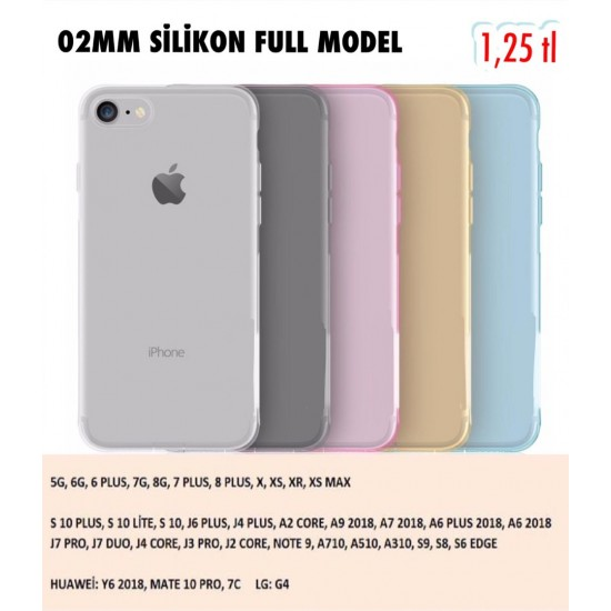 02 MM SİLİKON FULL MODEL