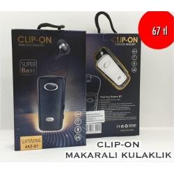 CLIP-ON AKZ-Q1 MAKARALI KULAKLIK