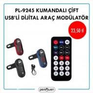 PL-9245 KUMANDALI ÇİFT USB'Lİ DİGİTAL ARAÇ MODÜLATÖR