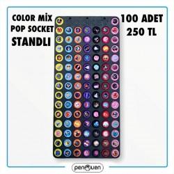COLOR MİX POP SOCKET STANDLI 100 ADET 250 TL