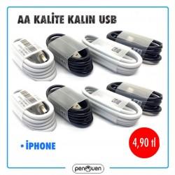 AA KALİTE KALIN USB-İPHONE