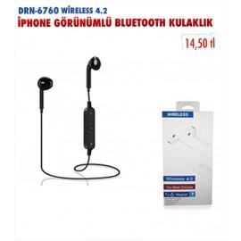 DRN-6760 WİRELESS 4.2 İPHONE GÖRÜNÜMLÜ BLUETOOTH KULAKLIK