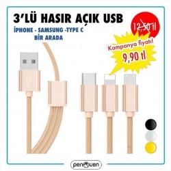 3'LÜ HASIR AÇIK USB