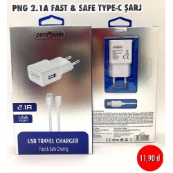 PNG 2.1A FAST AND SAFE TYPE-C ŞARJ