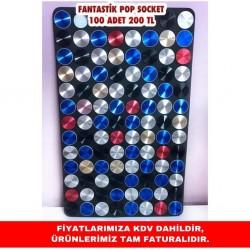 FANTASTİK POP SOCKET STANDLI 100 ADET 200 TL