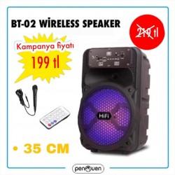 BT-02 WİRELESS SPEAKER