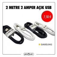 2 METRE 2 AMPER AÇIK USB