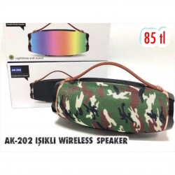 AK-202 IŞIKLI WİRELESS SPEAKER