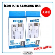 İCON 2.1A SAMSUNG USB