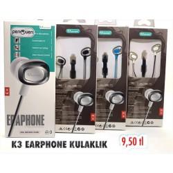 K3 EARPHONE KULAKLIK