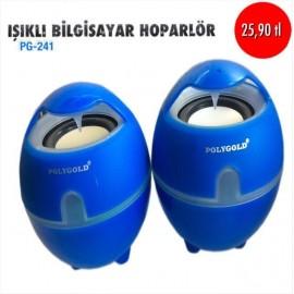 IŞIKLI BİLGİSAYAR HOPARLÖR PG-241