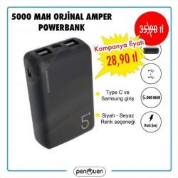 5000 MAH ORJİNAL AMPER POWERBANK