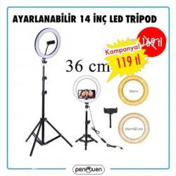 AYARLANABİLİR 14 İNÇ LED TRİPOT
